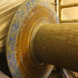 Korrosionsschutz - Seilwinde vor der Beschichtung