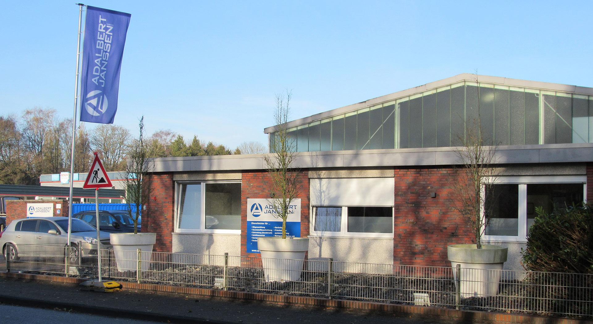 Unternehmen Adalbert Janssen Bürogebäude außen