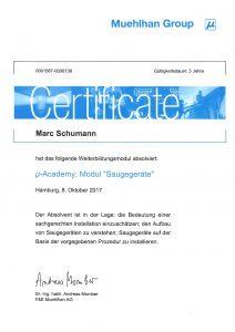 """Zertifikat """"µ-Academy: Modul Saugegeräte"""""""